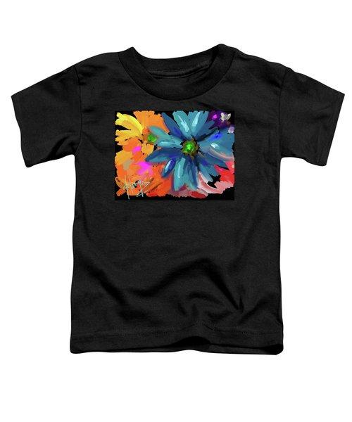 Big Blue Flower Toddler T-Shirt