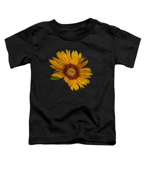 Big Sunflower Toddler T-Shirt by Debra and Dave Vanderlaan