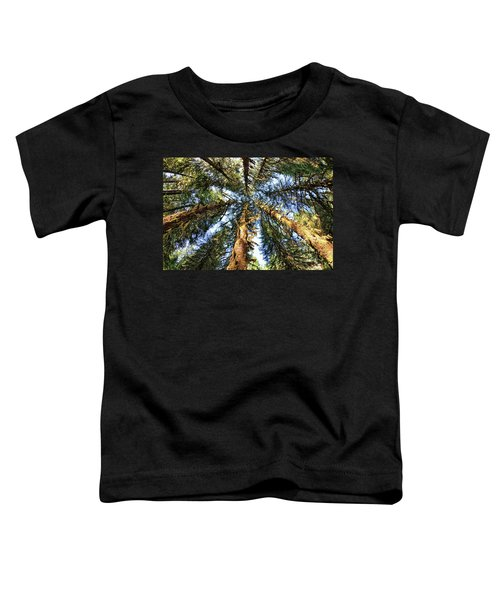 Big Trees In Olympic National Park Toddler T-Shirt