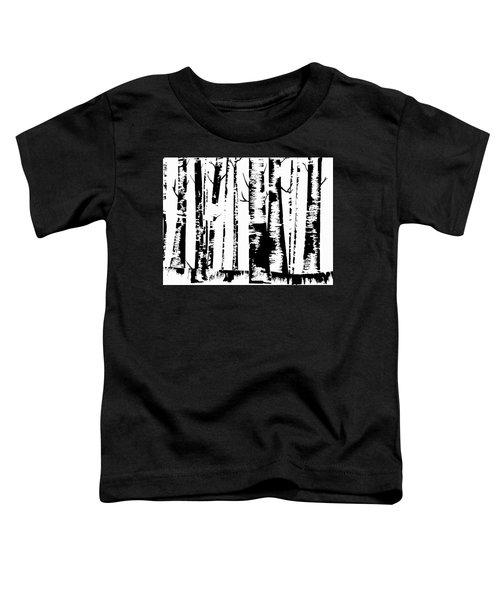 Birch Forest Black Toddler T-Shirt