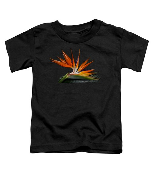 Toddler T-Shirt featuring the photograph Bird In Paradise by Debra and Dave Vanderlaan