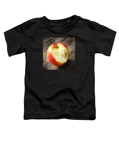 Bitten Red Apple Toddler T-Shirt