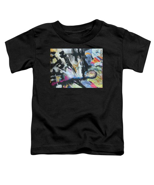 Black Abstract Toddler T-Shirt