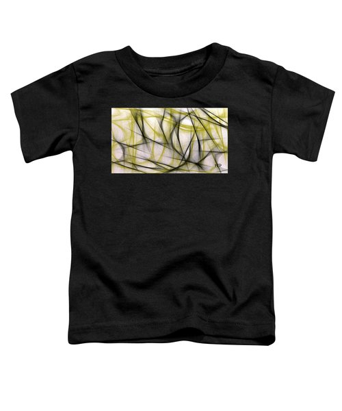 Black And Green Abstract Toddler T-Shirt