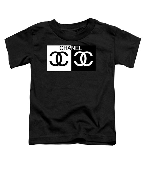Black And White Chanel Toddler T-Shirt