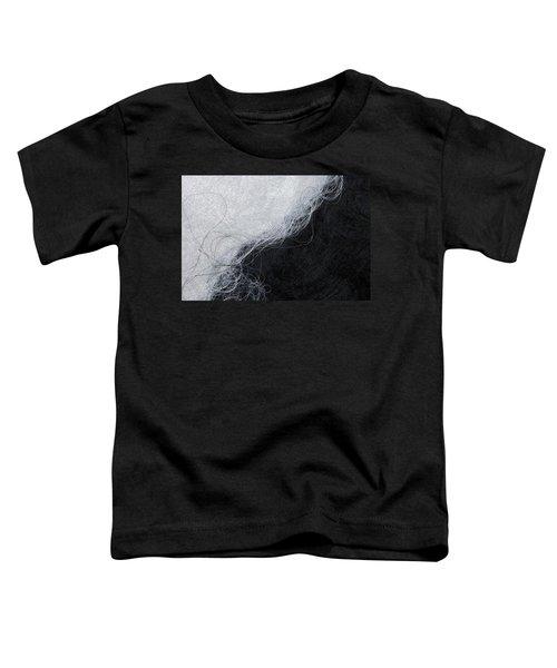 Black And White Fibers - Yin And Yang Toddler T-Shirt