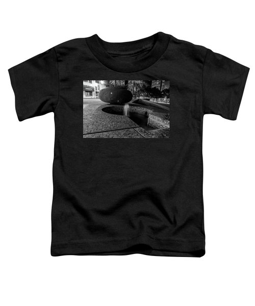 Black And White Fountain Toddler T-Shirt