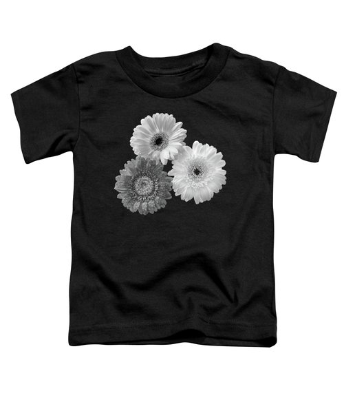 Black And White Gerbera Daisies Toddler T-Shirt