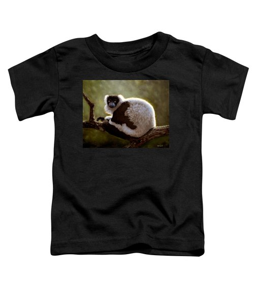 Black And White Ruffed Lemur Toddler T-Shirt