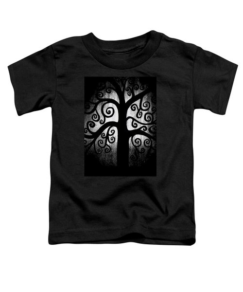 Black And White Tree Toddler T-Shirt