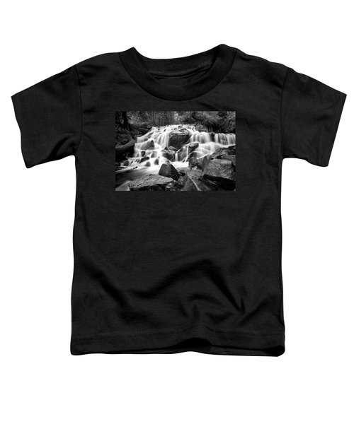 Black And White Waterfall In Lee Vining Canyon Toddler T-Shirt