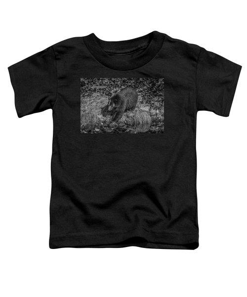 Black Bear Salmon Seeker Toddler T-Shirt