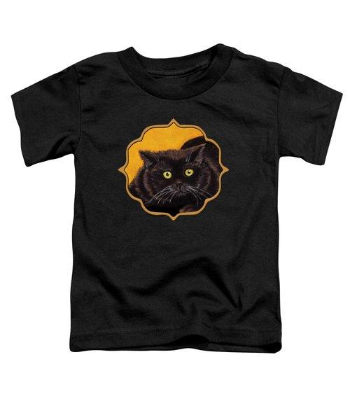 Black Cat Toddler T-Shirt by Anastasiya Malakhova