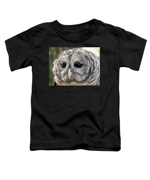 Black Eye Owl Toddler T-Shirt
