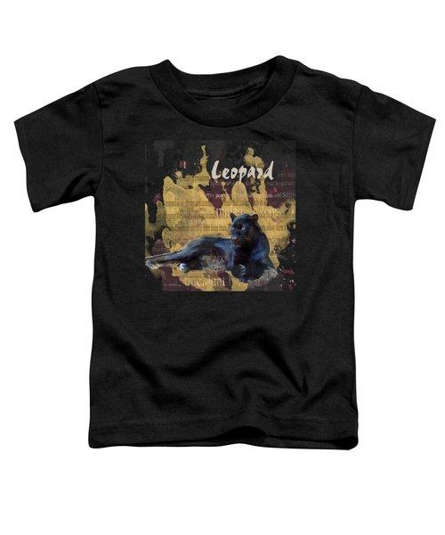 Black Leopard Toddler T-Shirt