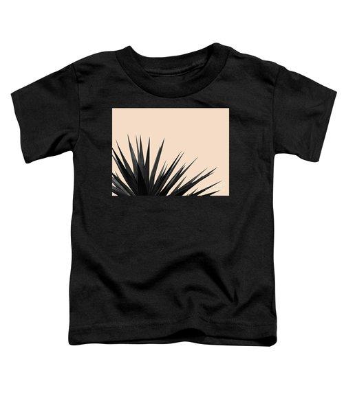 Black Palms On Pale Pink Toddler T-Shirt