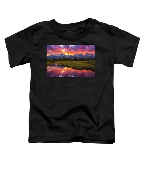 Black Ponds Sunset Toddler T-Shirt