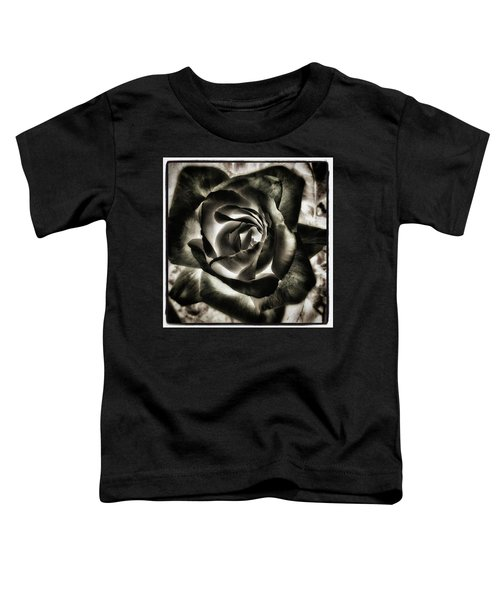 Toddler T-Shirt featuring the photograph Black Rose. Symbol Of Farewells by Mr Photojimsf