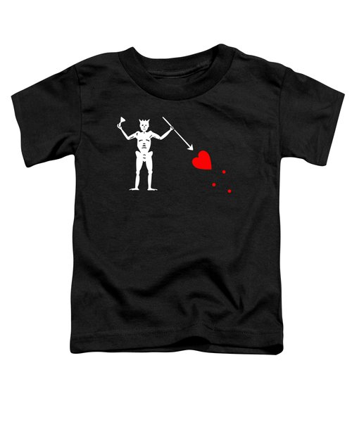Blackbeard Pirate Flag Tee Toddler T-Shirt