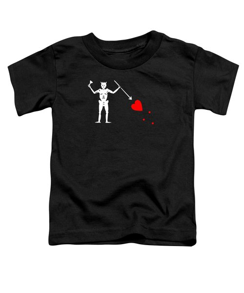 Blackbeard Pirate Flag Tee Toddler T-Shirt