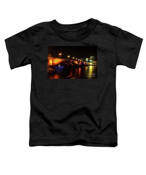 Blackfriars Bridge Illuminated In Orange Toddler T-Shirt