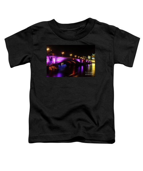 Blackfriars Bridge Illuminated In Purple Toddler T-Shirt