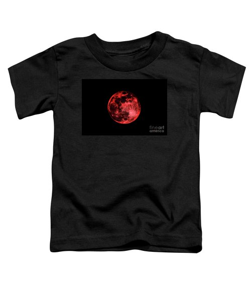 Blood Red Moonscape 3644b Toddler T-Shirt