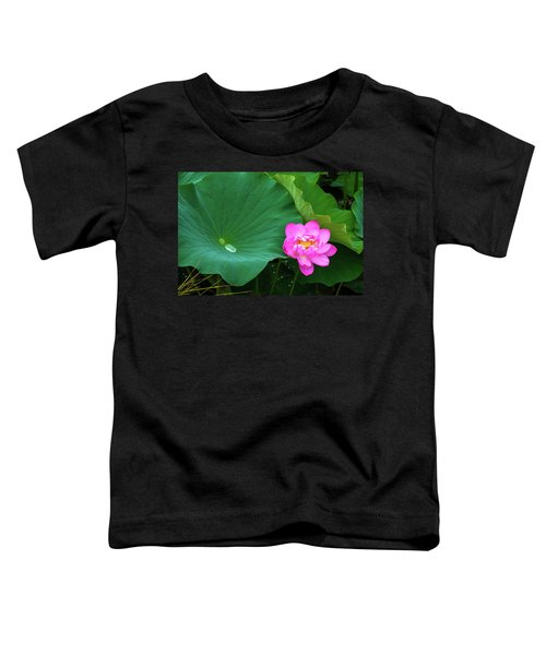 Blooming Pink And Yellow Lotus Lily Toddler T-Shirt