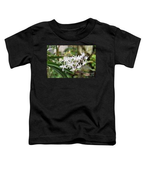 Blooming White Flower Spike Toddler T-Shirt