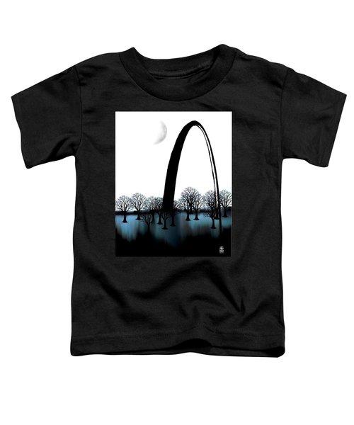 Toddler T-Shirt featuring the digital art Blu Lou by Gerry Morgan