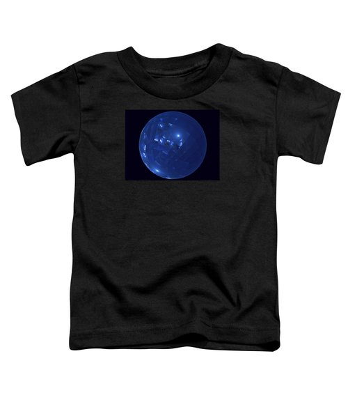 Blue Big Sphere With Squares Toddler T-Shirt