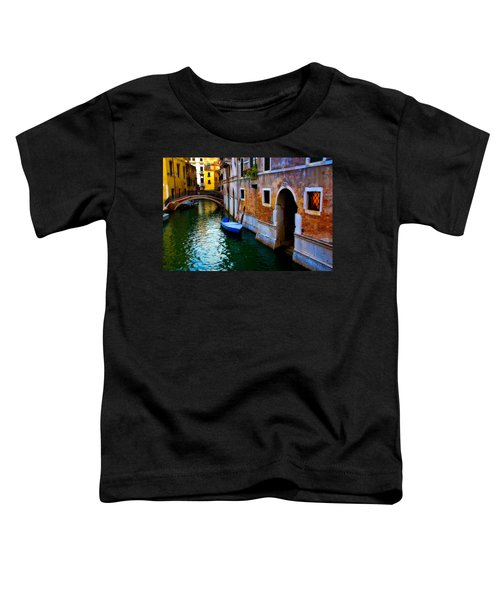 Blue Boat At Twilight Toddler T-Shirt