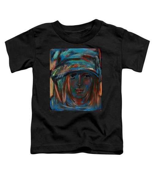 Blue Faced Girl Toddler T-Shirt