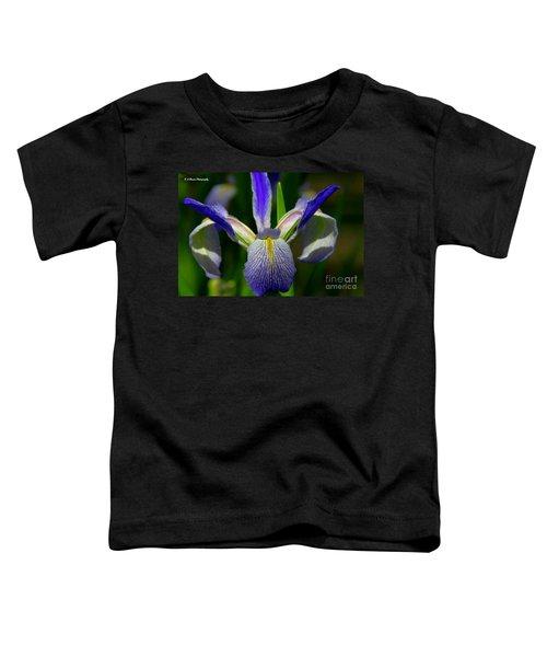 Blue Flag Iris Toddler T-Shirt