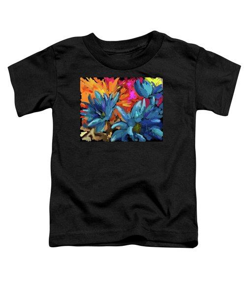 Blue Flowers 2 Toddler T-Shirt