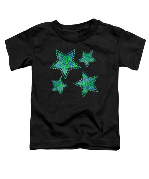 Blue Green Splatter Toddler T-Shirt