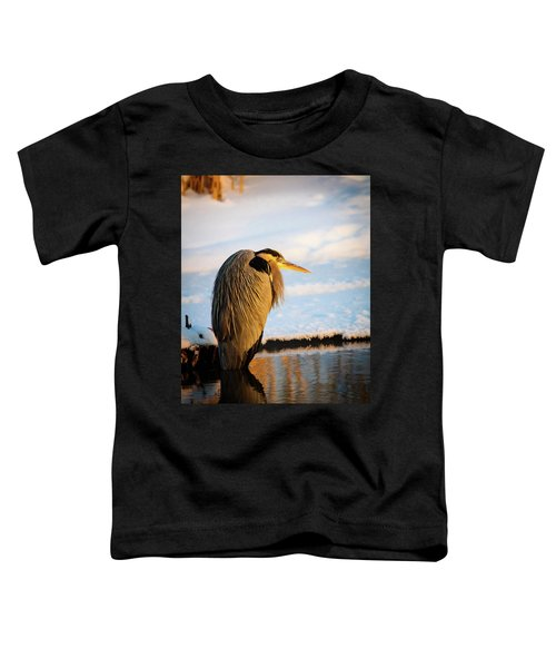 Blue Heron Resting Toddler T-Shirt