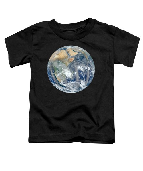 Blue Marble 2012 - Eastern Hemisphere Of Earth Toddler T-Shirt by Nikki Marie Smith