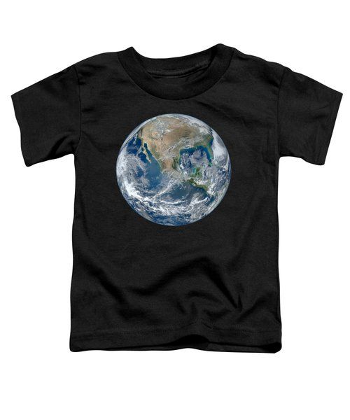 Blue Marble 2012 Planet Earth Toddler T-Shirt by Nikki Marie Smith
