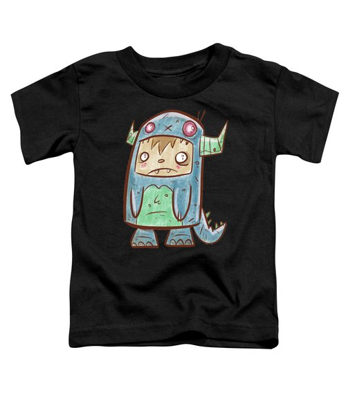 Blue Monster Boy #2 Toddler T-Shirt