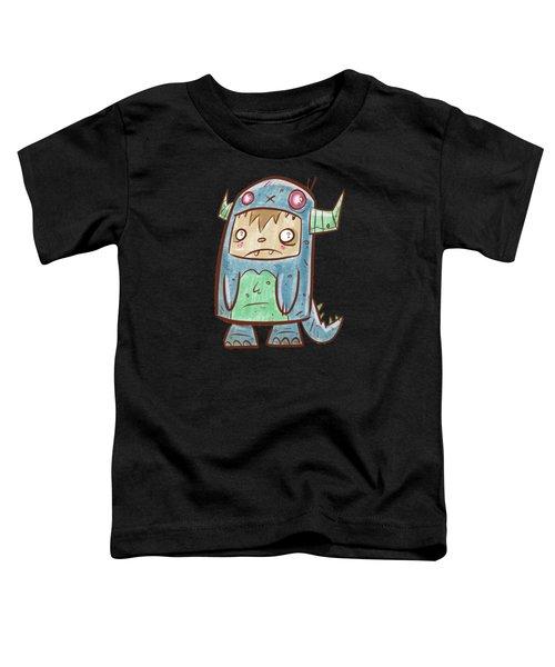 Blue Monster Boy #2 Toddler T-Shirt