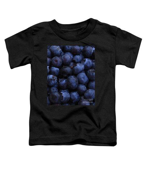 Blueberries Close-up - Vertical Toddler T-Shirt