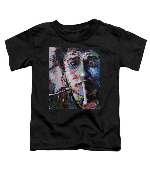 Bob Dylan Toddler T-Shirt by Richard Day