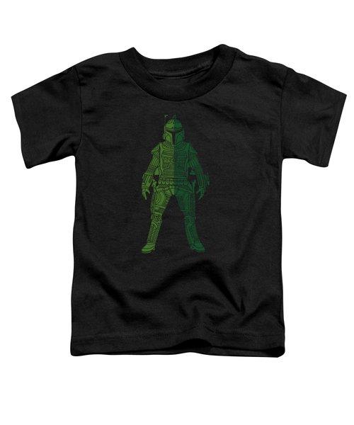 Boba Fett - Star Wars Art, Green 02 Toddler T-Shirt