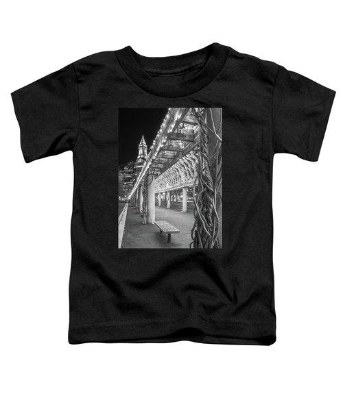 Boston's Custom House And Christopher Columbus Park Trellises Toddler T-Shirt