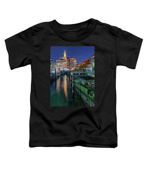 Boston's Custom House Tower From Long Wharf Toddler T-Shirt