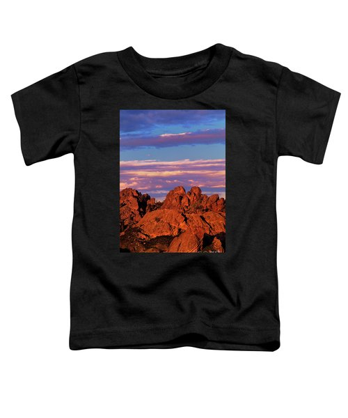 Boulders Sunset Light Pinnacles National Park Californ Toddler T-Shirt