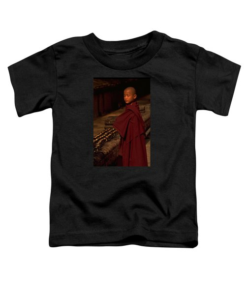 Toddler T-Shirt featuring the photograph Boy Buddhist In Bodh Gaya by Travel Pics