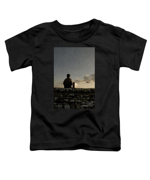 Boy On Wall Toddler T-Shirt