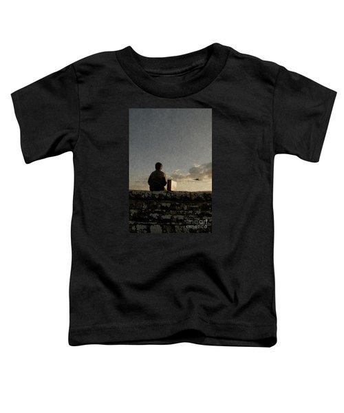 Boy On Wall Toddler T-Shirt